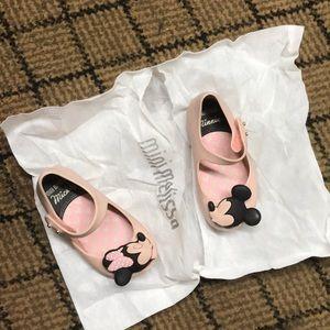 Mini Melissa Minnie Mouse Ultra girls twins shoes